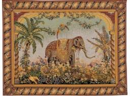 tapisserie orientale éléphant