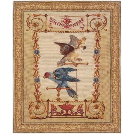 Perroquet, Tapisserie Art de Lys