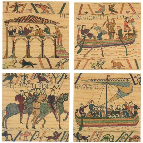 Bayeux - Lot de 4 coussins, Tapisserie Art de Lys