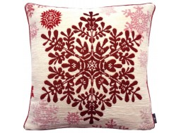 Grand flocon rouge, coussin