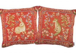 Coussins animaux, rouge