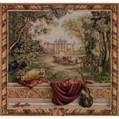 Tapisseries de châteaux et paysages, verdures
