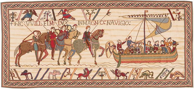 Tapisserie de Bayeux - départ de la flotte