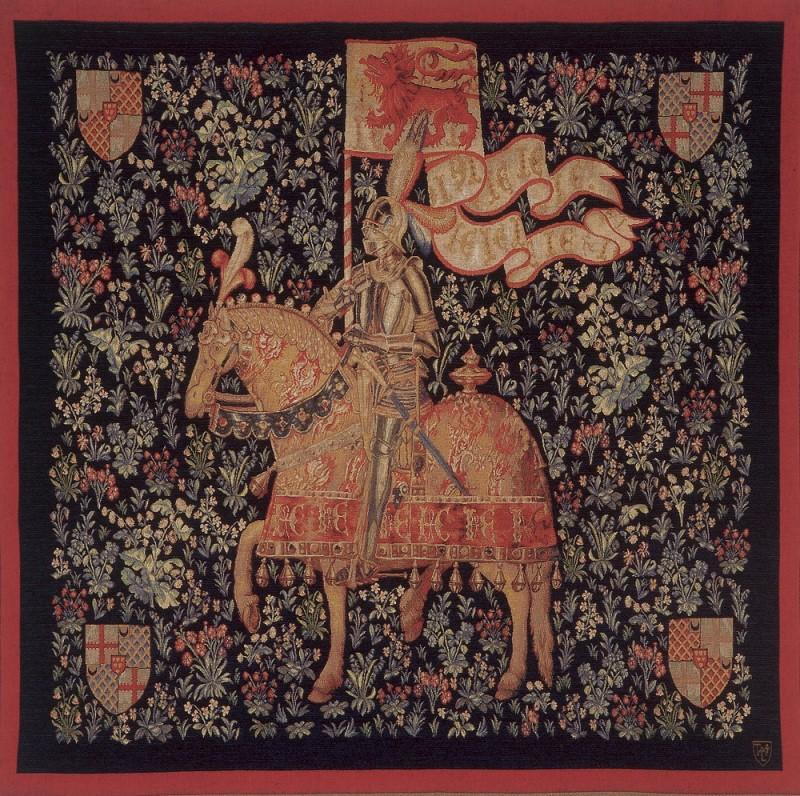 Tapisserie du Moyen-Age , le Chevalier