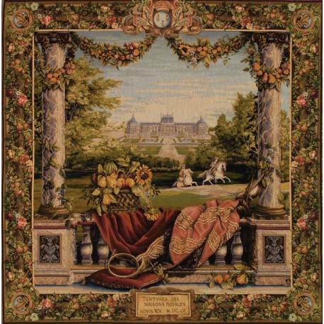 Terrace by the castle, Tapisserie Art de Lys