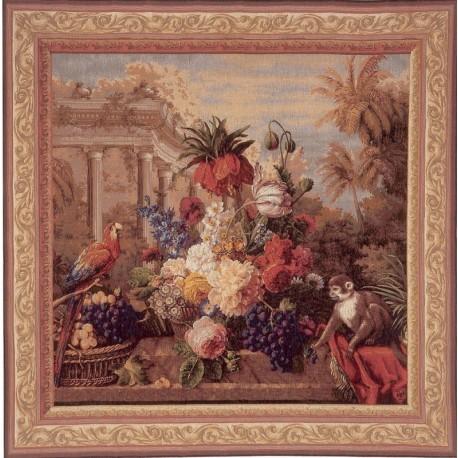 Bouquet Exotique animaux, Tapisserie Art de Lys