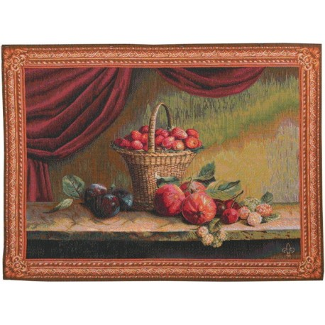 Panier de Fruits, Tapisserie Art de Lys