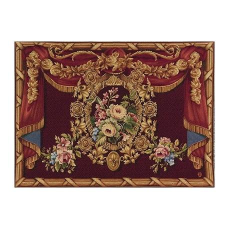 Medaillon Floral, Tapisserie Art de Lys