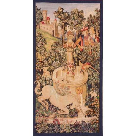 Unicorn by the fountain, Tapisserie Art de Lys
