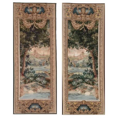 Cascade et Verdure (2 pièces), Tapisserie Art de Lys