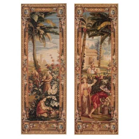 Recolte des Ananas (2 pièces), Tapisserie Art de Lys