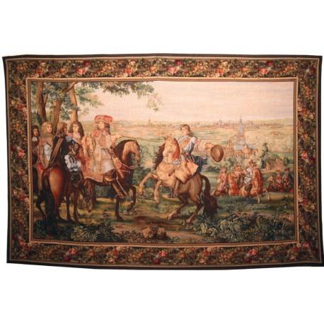 La Prise de Lille par Louis XIV, Tapisserie Art de Lys