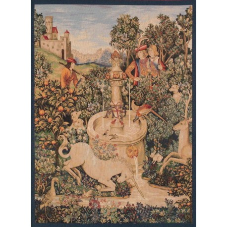 Unicorn by the fountain, Tapisserie Art de Lys