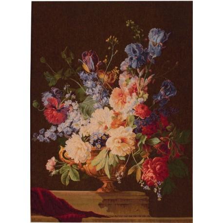 Bouquet Iris Foncé, Tapisserie Art de Lys