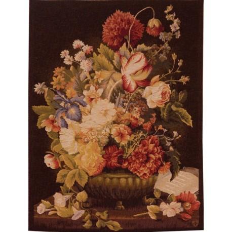 Bouquet Dark Tulips, Tapisserie Art de Lys
