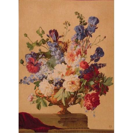Bouquet Iris Clair, Tapisserie Art de Lys