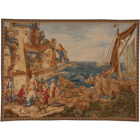 Return from the fishing, Tapisserie Art de Lys