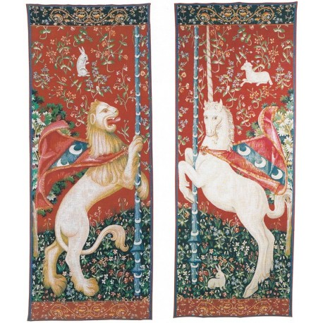 Unicorn and Lion, Tapisserie Art de Lys