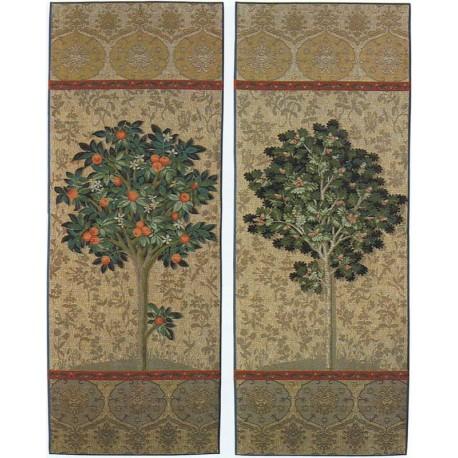 L'oranger et l'arbre, Tapisserie Art de Lys