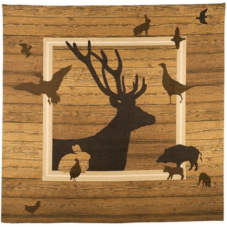 Hunting animals, Tapisserie Art de Lys