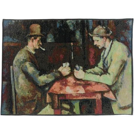 Les joueurs de cartes - Cézanne, Tapisserie Art de Lys