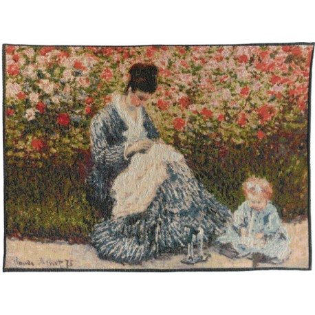 Camille and the child - Monet, Tapisserie Art de Lys