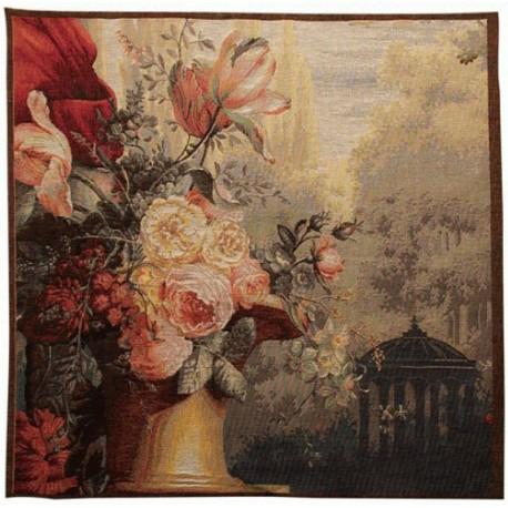 Scène Trianon et Fleurs, Tapisserie Art de Lys