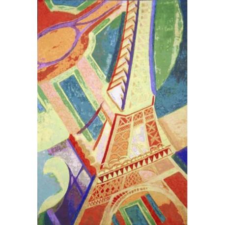 Delaunay - Tour Eiffel, Tapisserie Art de Lys
