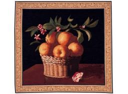 corbeille d'oranges, tapisserie