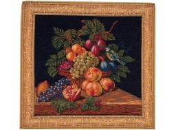 Corbeille de fruits et mésange