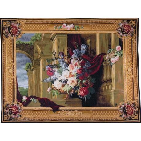 Bouquet et Architecture, Tapisserie Art de Lys