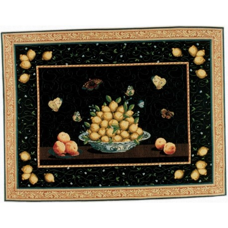 Plat de Fruits, Tapisserie Art de Lys