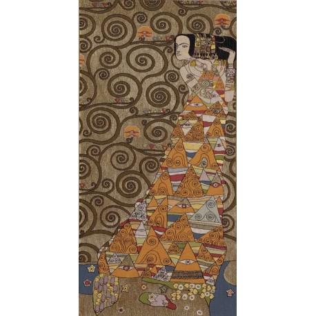 Klimt L'attente (doré), Tapisserie Art de Lys