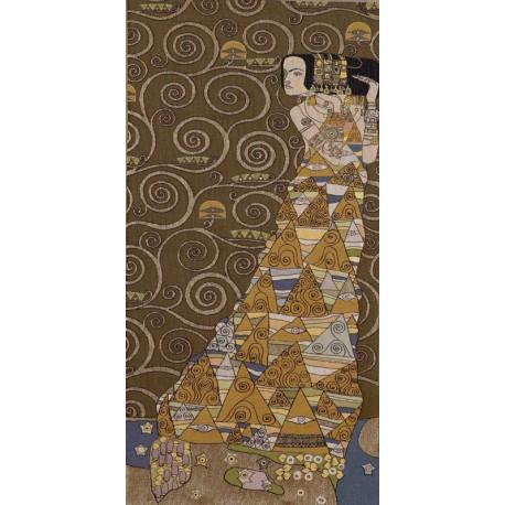 Klimt L'attente (foncé), Tapisserie Art de Lys