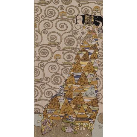 Klimt L'attente (clair), Tapisserie Art de Lys