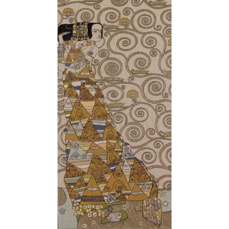 Klimt L'attente (clair gauche), Tapisserie Art de Lys