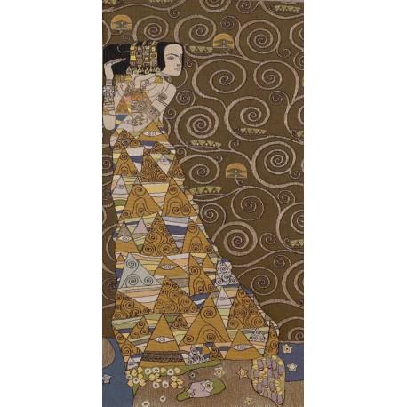 Klimt L'attente (foncé gauche), Tapisserie Art de Lys