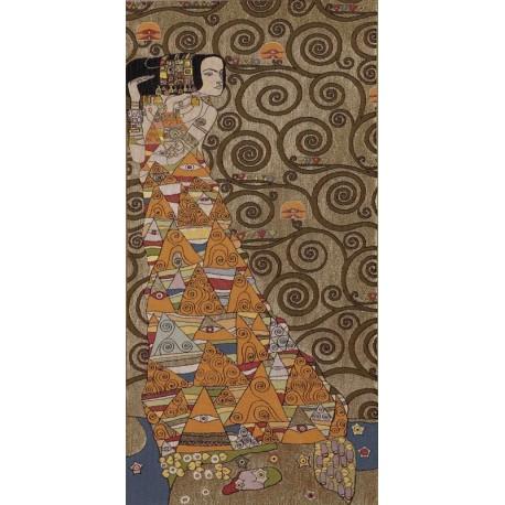 Klimt L'attente (doré gauche), Tapisserie Art de Lys