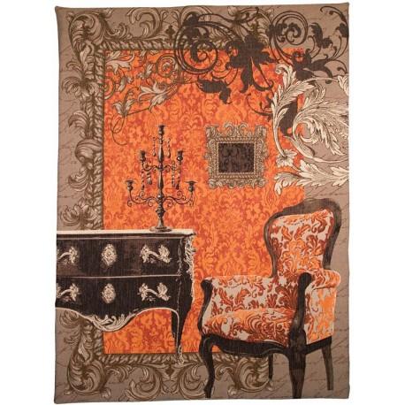 Trompe l'oeil (orange), Tapisserie Art de Lys