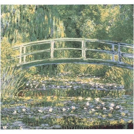 Le Pont japonais - Claude Monet, Tapisserie Metrax / Craye