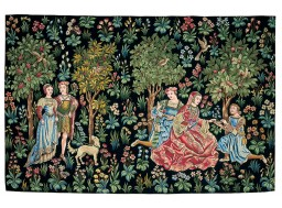 Scene galante tapestry
