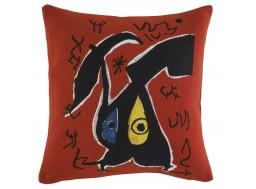 coussin Miro - rouge - Femme, oiseaux