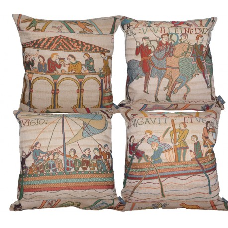 Bayeux - 4 cushions, Tapisserie Art de Lys