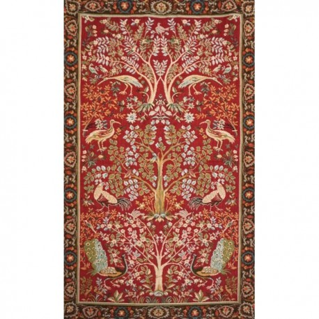 Abre fond rouge - William Morris