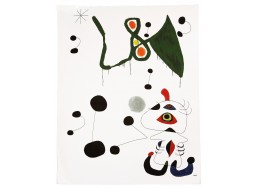"""Woman and bird at night"", Mirò"