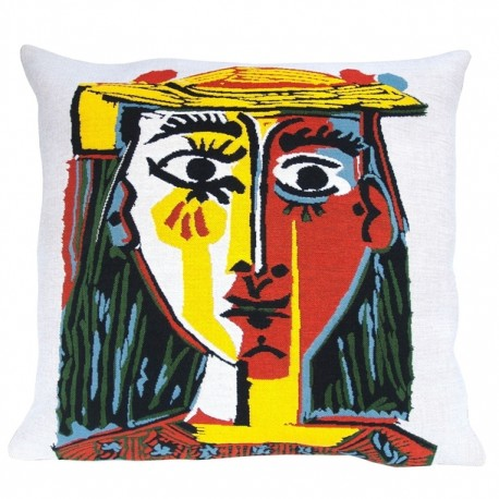 Picasso coussin Femme au chapeau