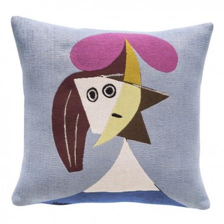 Coussin Picasso - femme au chapeau