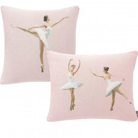 Lot coussins danseuses, couleur rose