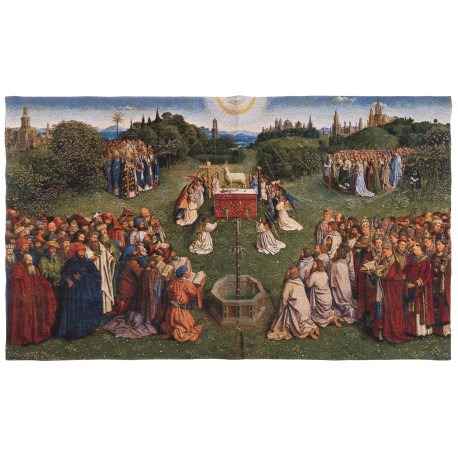 """tapestry """"The adoration of the mystic lamb"""""""