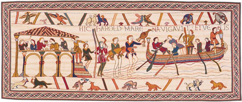Tapisserie de Bayeux - l'embarquement